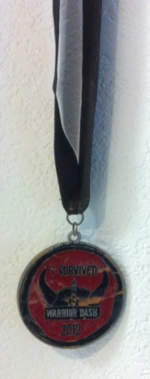My 2012 Warrior Dash medal