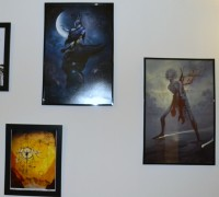"The remaining pieces. From left to right, ""Prometheus Unbound"" by Michael Bielaczyc, and ""Leliel"" and ""Af"" by Peter Mohrbacher."