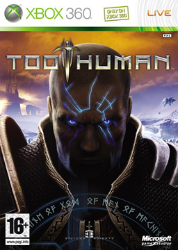 """Too Human"" box cover art (European)."