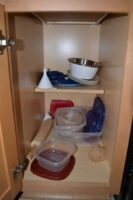 About 1/3rd of our plastic containers.