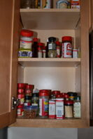 Our spice cabinet.