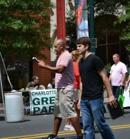 Two Bible-carrying protesters