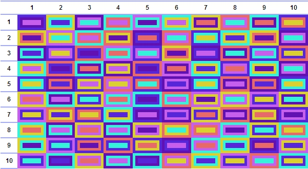 A generated blanket from the Granny Squares tool.