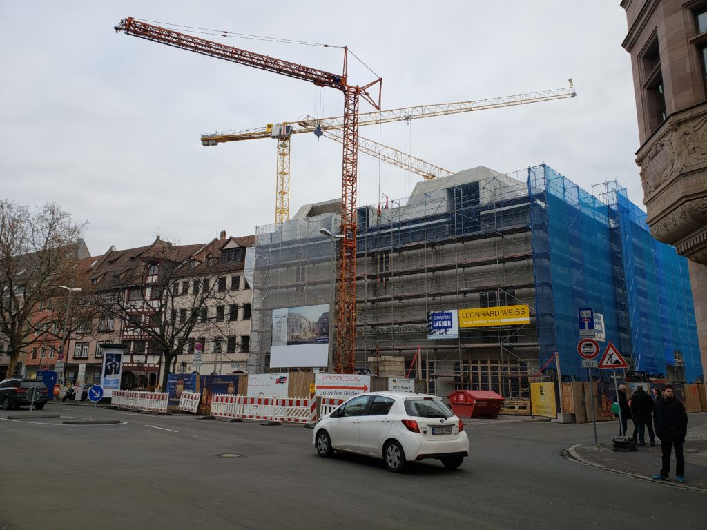 A construction site in Nuremberg