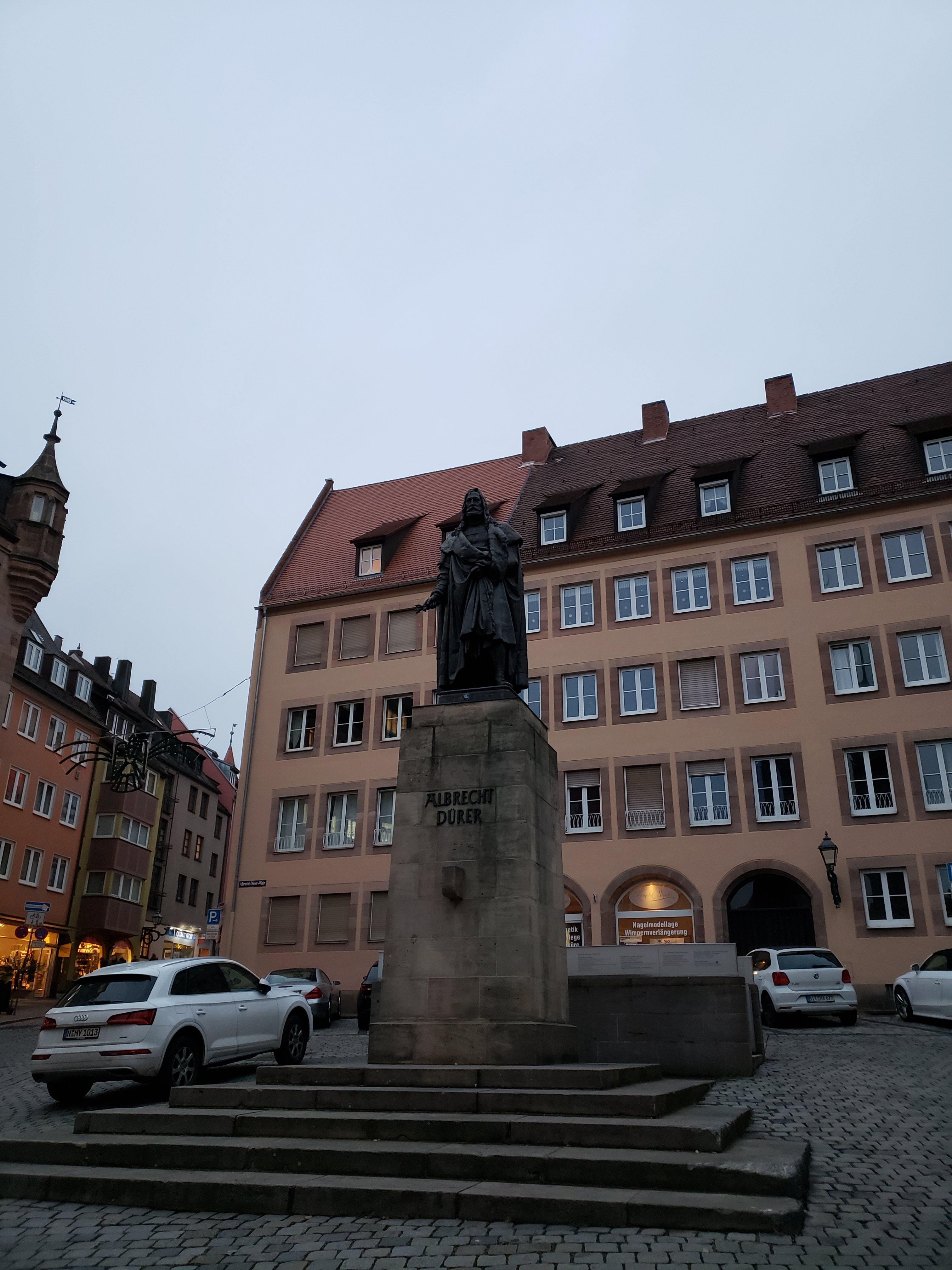 A statue of Albrecht Dürer in Nuremberg.